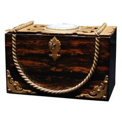 A Fine English Wood Box With Wedgwood and Gilded Mounts