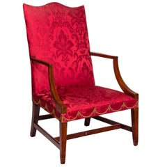 Fine Federal Inlaid Mahogany Lolling Chair, MA, circa 1800