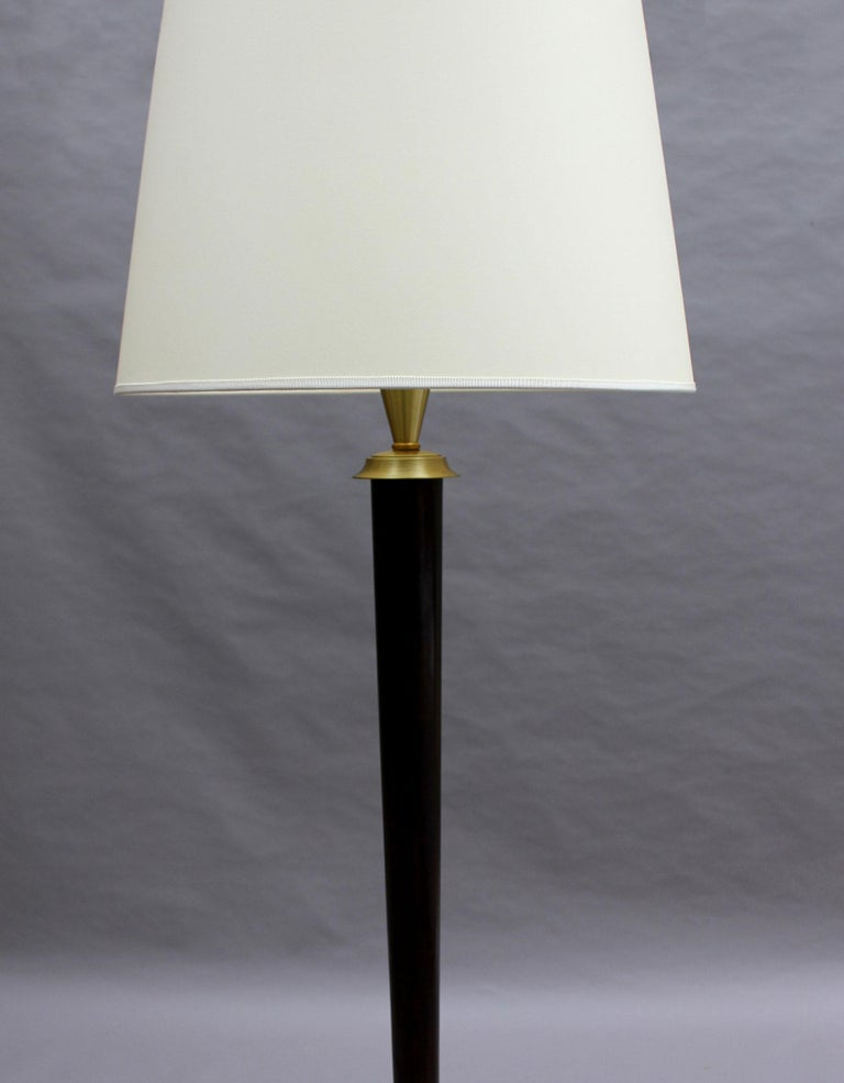 Fine French Art Deco Patinated Brass Floor Lamp For Sale 2
