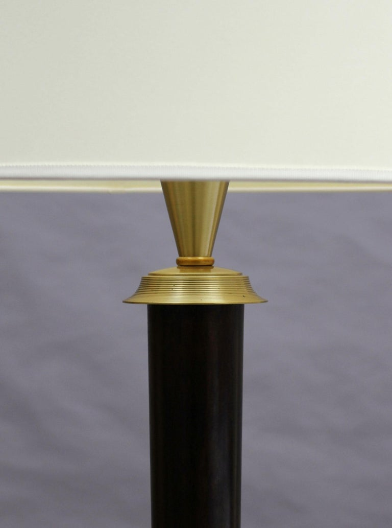 Fine French Art Deco Patinated Brass Floor Lamp For Sale 3