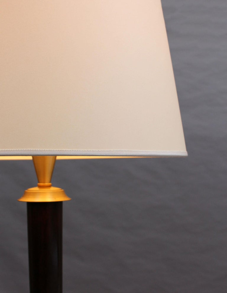 Fine French Art Deco Patinated Brass Floor Lamp For Sale 5