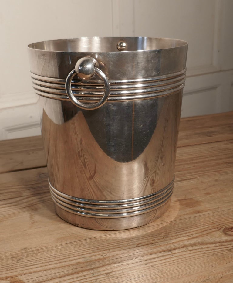 20th Century Fine French Art Deco Style Wine Cooler, by Gallia For Sale