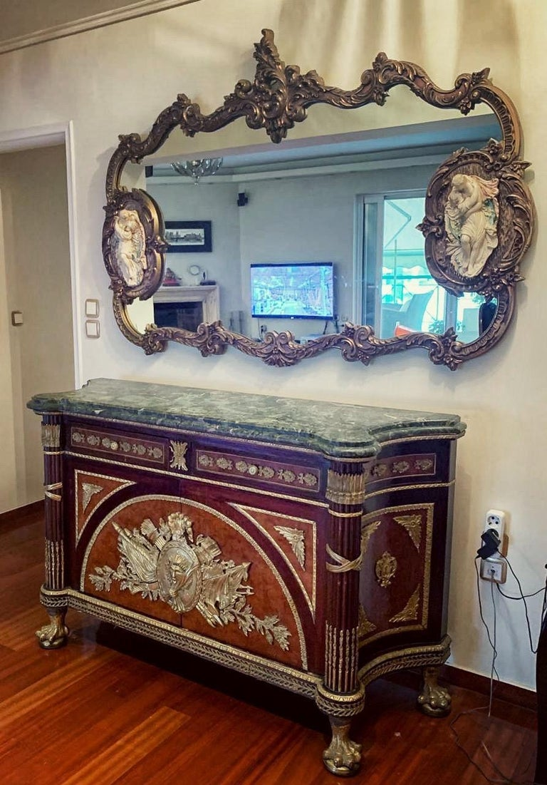 Fine French Ormolu-Mounted Commode a Vantaux with a Mirror, Late 19th Century For Sale 2