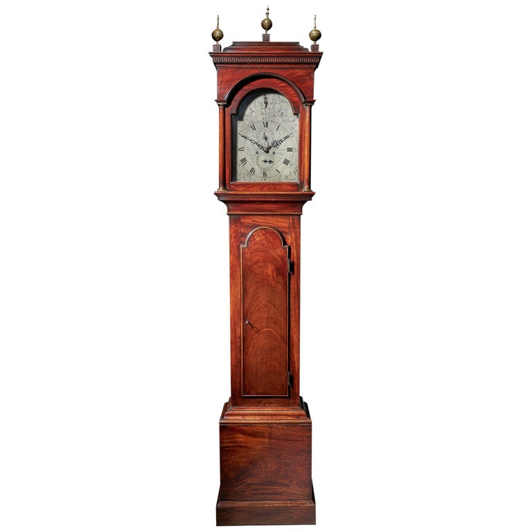 Fine George III 18th Century Period Mahogany Longcase Clock by Tomas Fowle For Sale