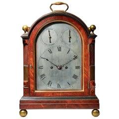 Fine George III Eight-Day Striking Mahogany Bracket Clock with Trip Repeat