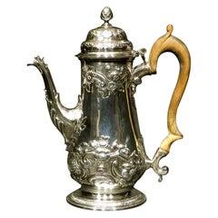 Fine Georgian Sterling Silver Coffee Pot by William Bateman 1st, London 1819