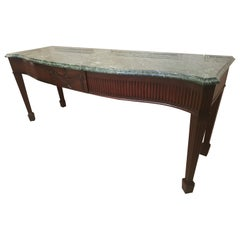 Fine Irish 18th Century Mahogany Serving Table with Impeccable Provenance