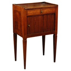 A Fine Italian Neoclassical Inlaid Fruitwood Stand