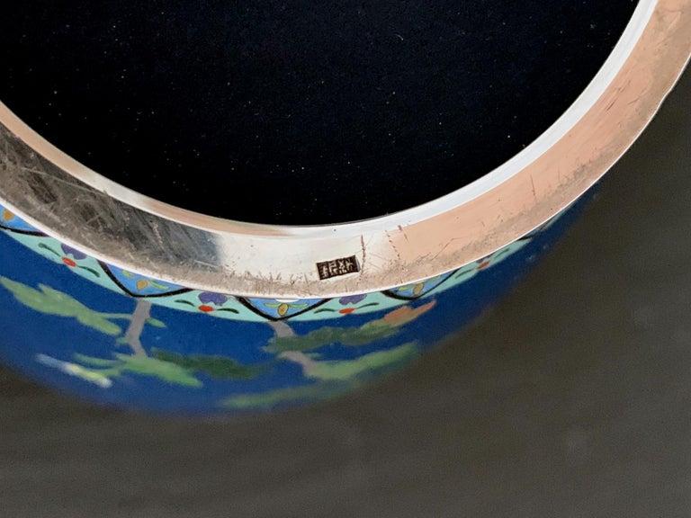 Fine Japanese Cloisonne Vase by Hayashi Kodenji For Sale 4