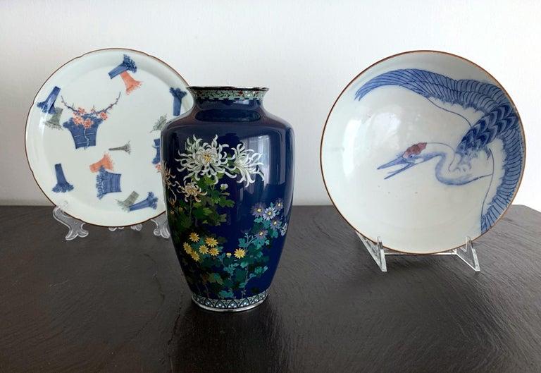 Fine Japanese Cloisonne Vase by Hayashi Kodenji For Sale 6