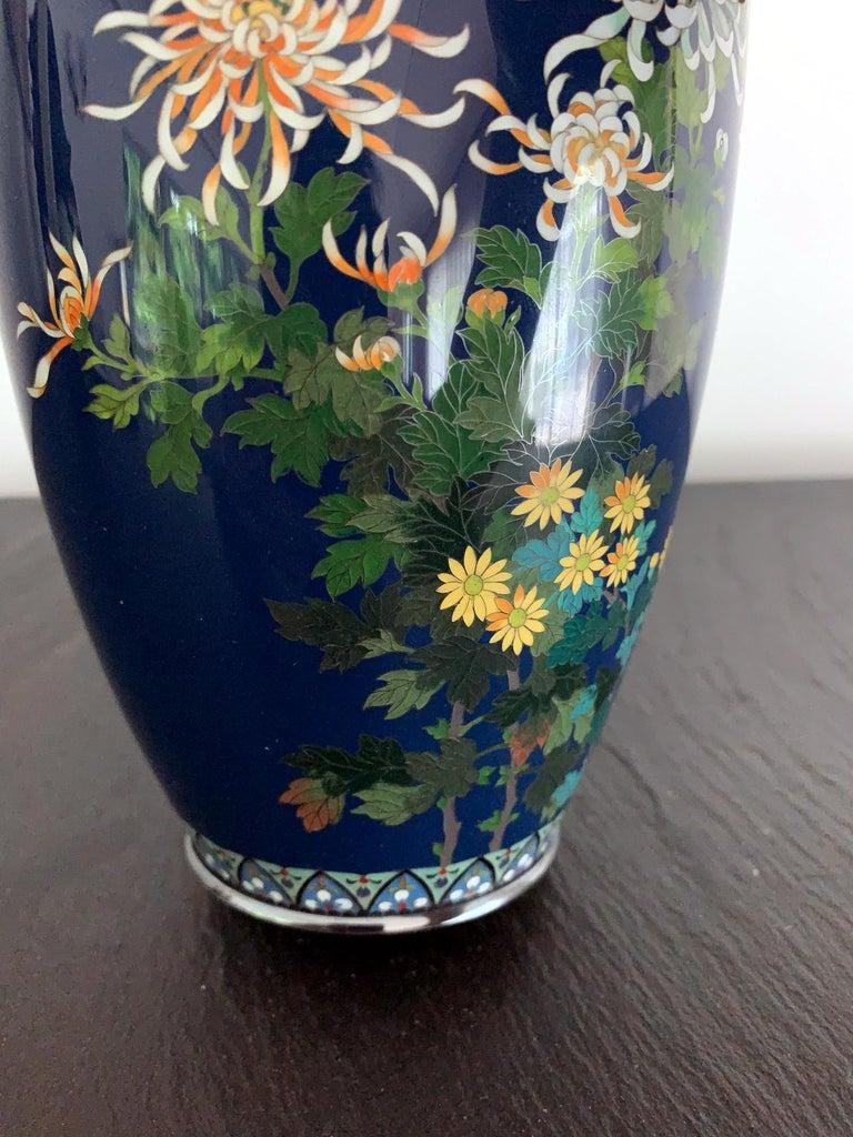 20th Century Fine Japanese Cloisonne Vase by Hayashi Kodenji For Sale