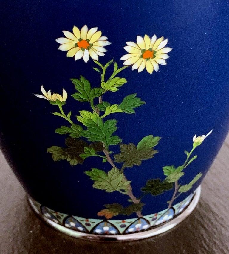 Fine Japanese Cloisonne Vase by Hayashi Kodenji For Sale 1