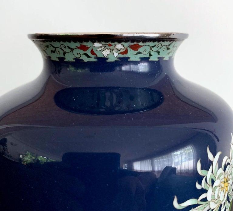 Fine Japanese Cloisonne Vase by Hayashi Kodenji For Sale 2