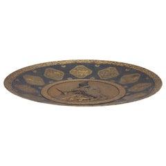 Fine Japanese Komai Inlaid-Iron Plate