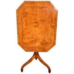 Tripod Table Fine Late 18th Century Satinwood