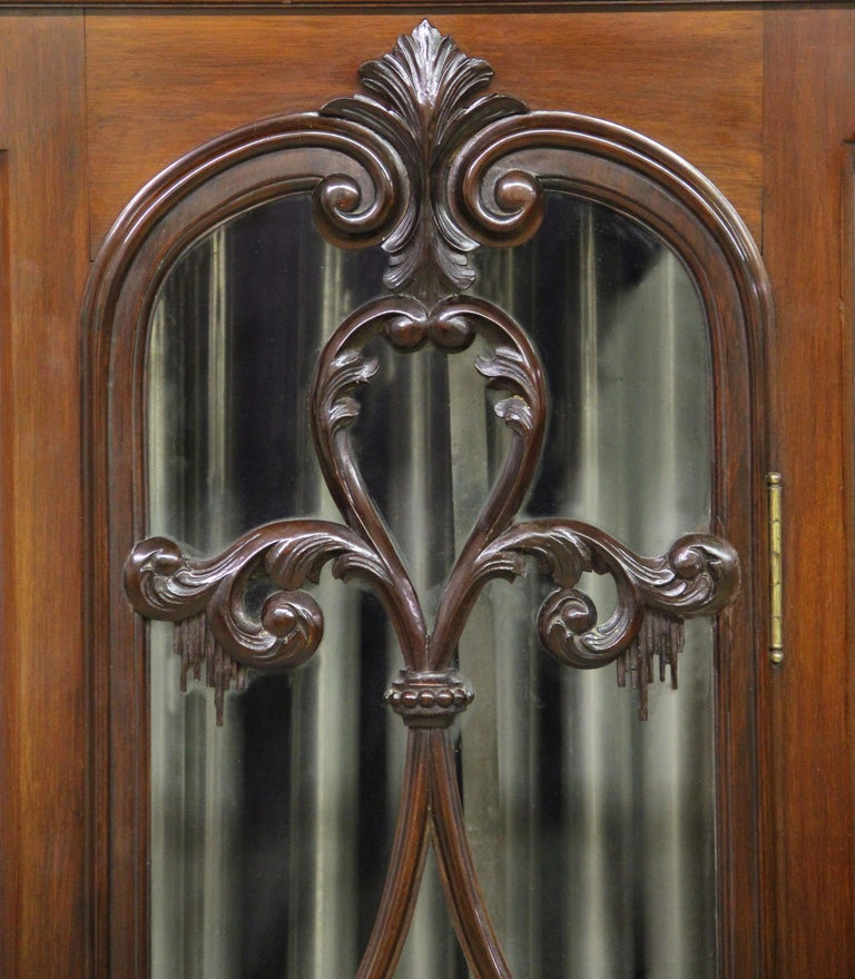 Wood Fine Late 19th Century English Carved Nine Tube Longcase Grandfather Clock For Sale