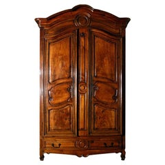 A Fine Louis XV Walnut Armoire
