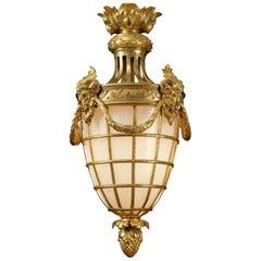 Fine Louis XVI Style Gilt-Bronze Lantern, circa 1900