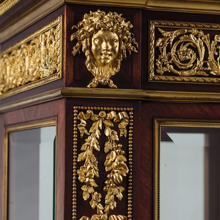 Fine Louis XVI Style Vitrine with Gilt-Bronze Mounts by Henri Picard, c 1880 In Good Condition For Sale In London, GB