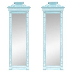 Fine Pair of Aesthetic Movement Carved and Painted Pier Mirrors