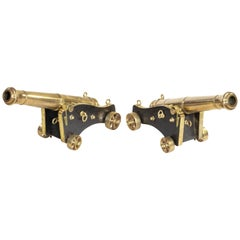 Fine Pair of Bronze Cannon by McAndrew English, circa 1850