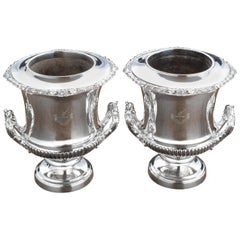 Fine Pair of Late 19th Century Champagne or Wine Coolers