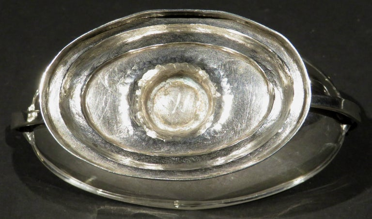 Fine Pair of Neoclassical Inspired German Silver Double Salt Cellars, Circa 1830 For Sale 4
