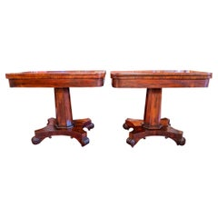 Fine Pair of Regency Period Rosewood Games Tables, Signed Phenes & Williamson