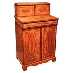 Fine Quality 18th Century Satinwood Collector's Cabinet