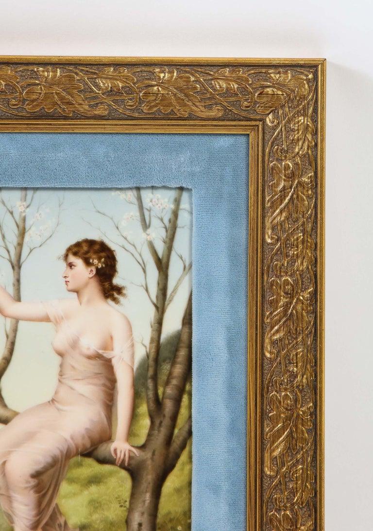 Napoleon III Fine Quality Antique Berlin K.P.M Hand Painted Porcelain Rectangular Plaque