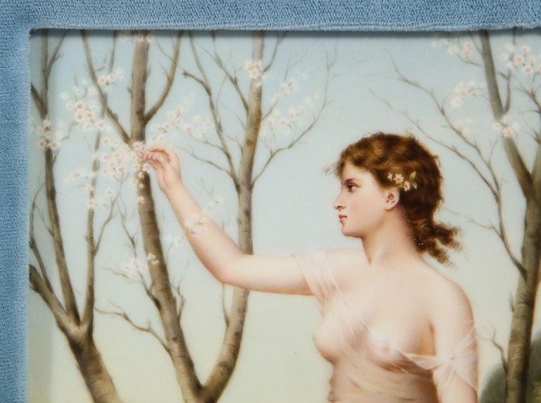 Fine Quality Antique Berlin K.P.M Hand Painted Porcelain Rectangular Plaque 2