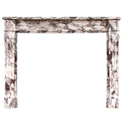 Fine Quality Breche Violette Marble Fireplace