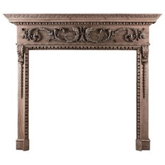 Fine Quality Carved Pine Fireplace