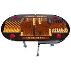 Fine Quality Inlaid Folding Games Table, Italian, circa 1870