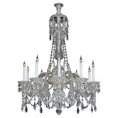 Fine Quality Victorian Ten-Light Cut Glass Chandelier by Perry & Co.