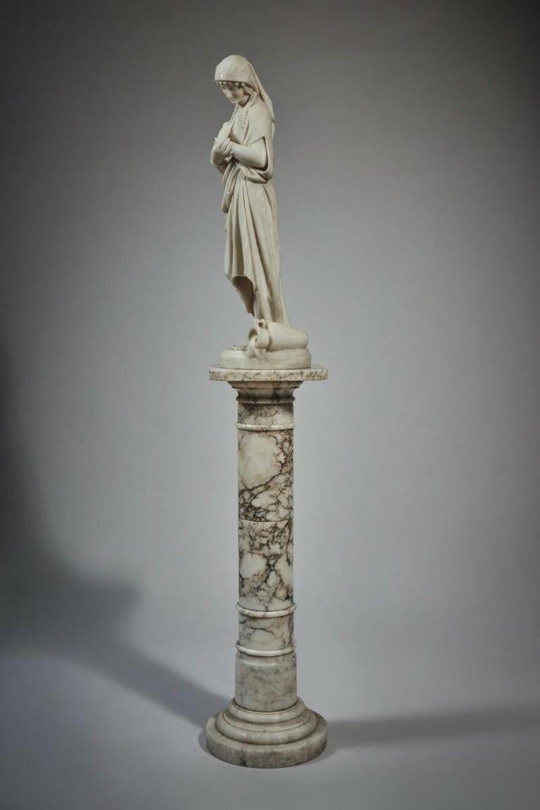 White Marble Statue Sculpture by Romanelli In Good Condition For Sale In New York, NY