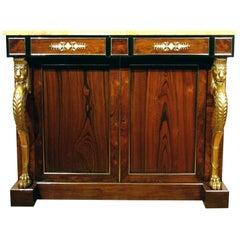 Fine Regency Rosewood & Parcel Gilt Side Cabinet in the Manner of George Smith