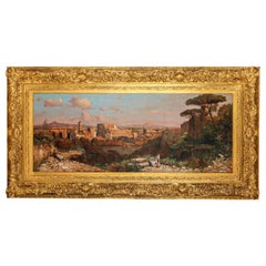 Fine Roman Landscape Depicting the Colosseum and the Via Sacra