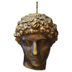 Fine Sculpture of Apollo, Ceramic with a Metal like Finish