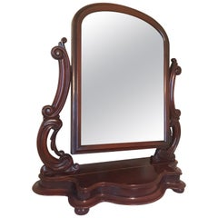 Fine Victorian Mahogany Cheval Dressing Table Mirror