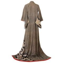 Fine Vintage Japanese Kuro Tomesode Kimono