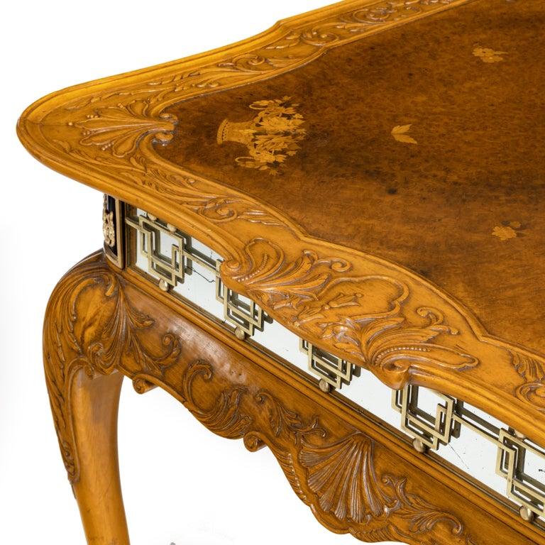 Fine Walnut and Burr Walnut Orientalist Centre Table, 1920 For Sale 8