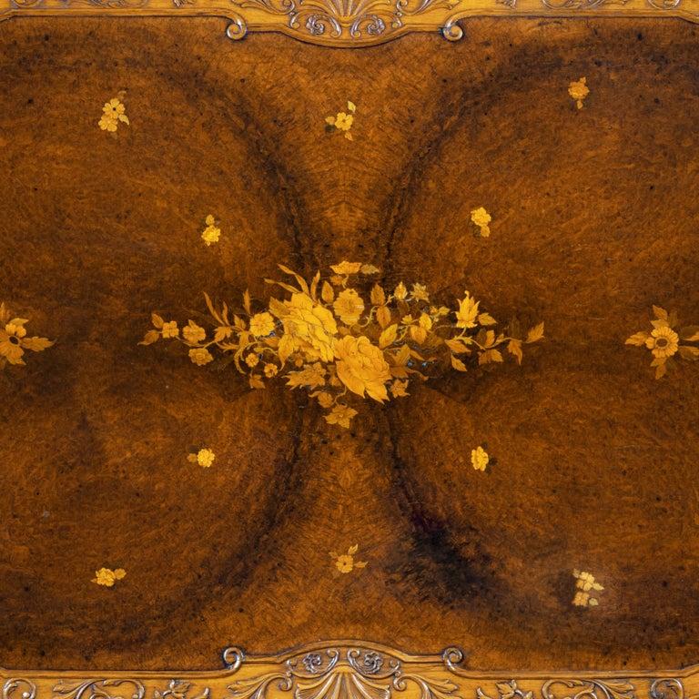 Fine Walnut and Burr Walnut Orientalist Centre Table, 1920 For Sale 9