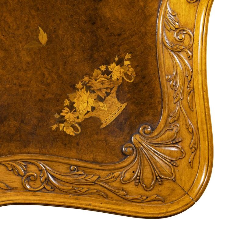 Fine Walnut and Burr Walnut Orientalist Centre Table, 1920 For Sale 10
