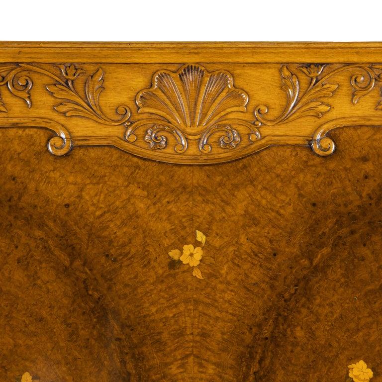 Fine Walnut and Burr Walnut Orientalist Centre Table, 1920 For Sale 13