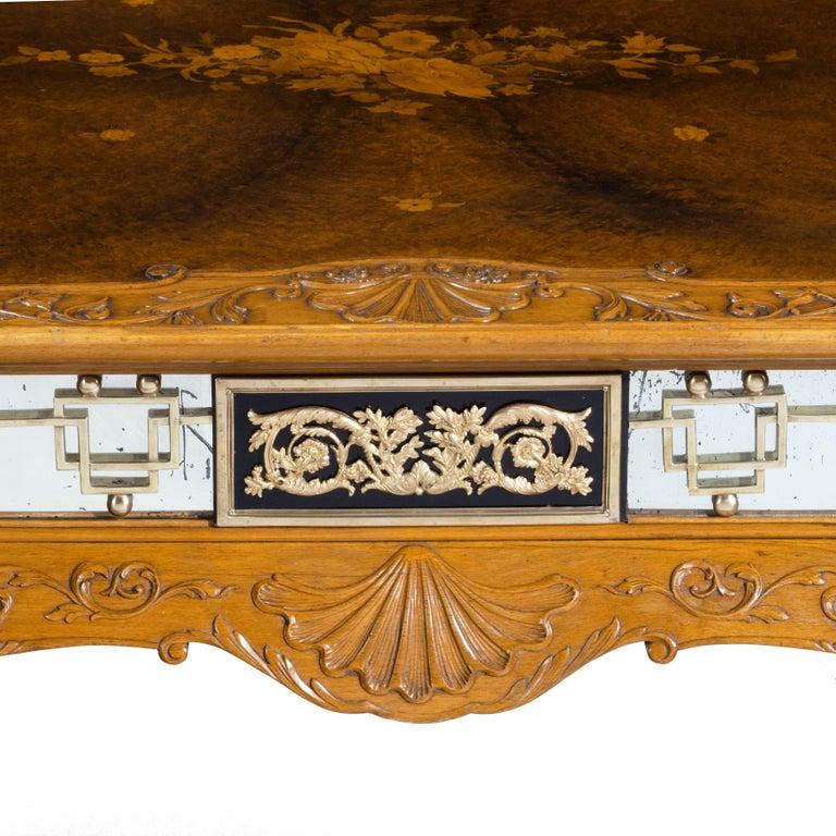 American Fine Walnut and Burr Walnut Orientalist Centre Table, 1920 For Sale