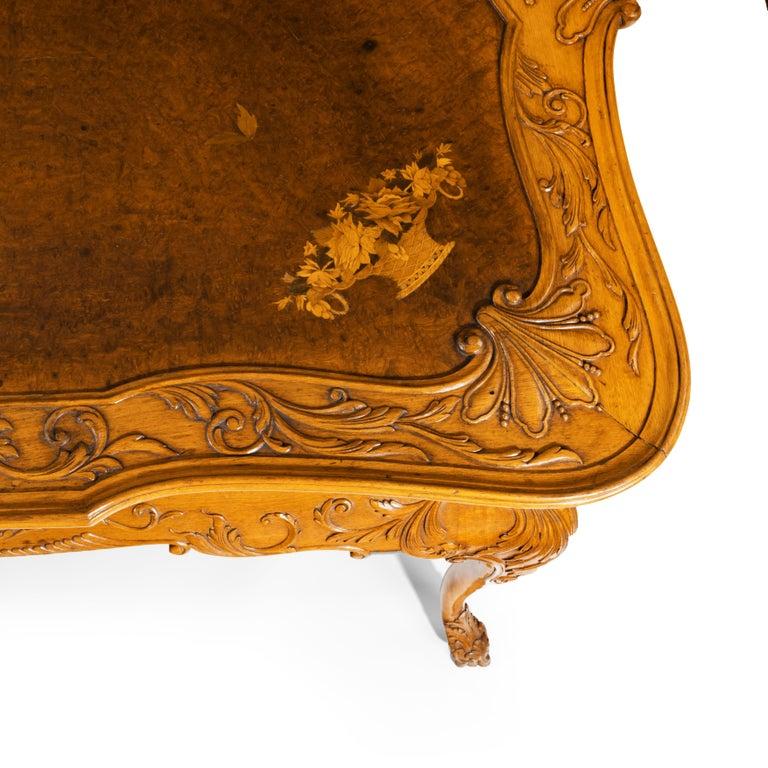 Fine Walnut and Burr Walnut Orientalist Centre Table, 1920 For Sale 2