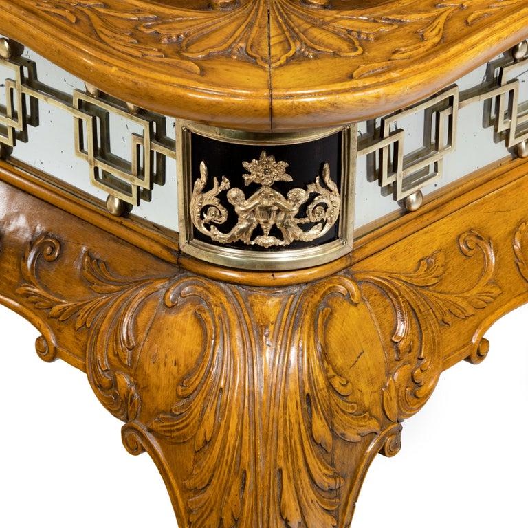 Fine Walnut and Burr Walnut Orientalist Centre Table, 1920 For Sale 3