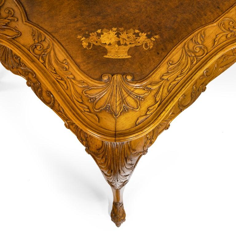 Fine Walnut and Burr Walnut Orientalist Centre Table, 1920 For Sale 4