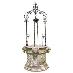 Finely Carved Early 20th Century Marble Wellhead